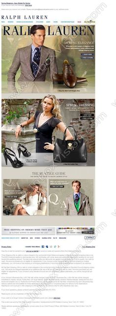 Company:  Ralph Lauren Corporation Subject:  Spring Elegance - New Styles For Spring                INBOXVISION providing email design ideas and email marketing intelligence.    www.inboxvision.com/blog/  #EmailMarketing #DigitalMarketing #EmailDesign #EmailTemplate #InboxVision  #SocialMedia #EmailNewsletters