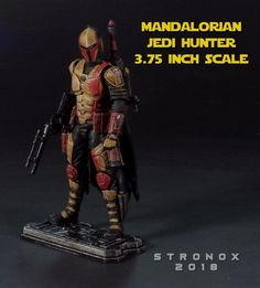 Mandalorian Jedi Hunter custom action figure from the Star Wars series using GI Joe as the base, created by Stronox. Star Wars Action Figures, Custom Action Figures, Trajes Star Wars, Star Wars Commando, Star Wars Figurines, Star Wars Bounty Hunter, Mandalorian Armor, Dc Rebirth, Star Wars Models