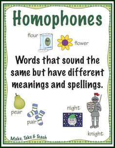 Teaching homophones- resources and FREE downloadable posters