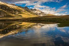 Campo Imperatore - Cerchi nell'acqua by Luigi Alesi on 500px. Pietranzoni, Abruzzo, Gran Sasso, Italy, Mountains, Lake