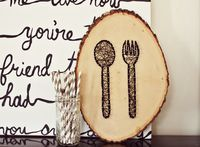 directions on how to make the spoon and fork string and pin art.
