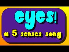 I wrote this for my early elementary science classes to help teach about eyes and the sense of sight.'s free math and scien. Body Preschool, Preschool Songs, Preschool Science, Preschool Lessons, Elementary Science, Science Resources, Five Senses Kindergarten, Kindergarten Songs, Songs For Toddlers