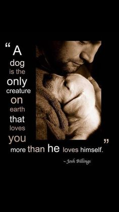 so true. I love how Sophie, my dog , shows me unconditional love. She shows me God's love and every time she looks at me with those brown eyes and is just lovin' me it makes me say thank you God, for loving me.