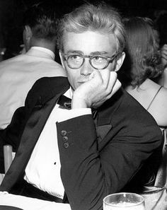 James Dean in glasses