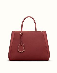 FENDI | REGULAR 2JOURS shopping bag in red leather