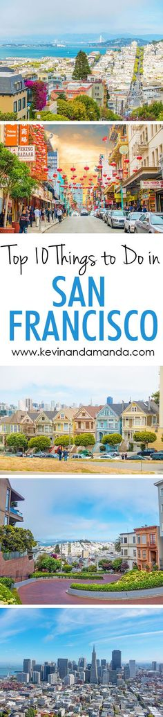 Visit TopTravelLists.com  A list of the 10 Most Popular Sightseeing Attractions in San Francisco, including Lombard Street, the Painted Ladies, Coit Tower, and Alcatraz. Pin this if you are going to San Francisco!!