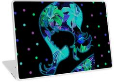 "Tropical Floral Lady Silhouette | Design available for 15"" / 13"" PC Laptop, MacBook Pro, MacBook Pro Retina, & 11""/13"" MacBook Air"