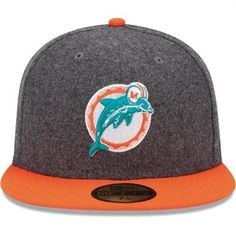 New Era Miami Dolphins Melton Basic 59FIFTY Structured Fitted Hat