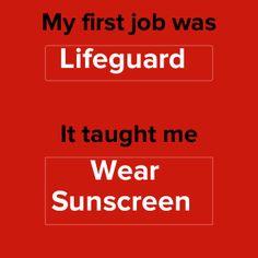 They called me Lori Lifeguard Best Summer Jobs, Summer Fun, Lifeguard Memes, Work Jokes, First Job, Wear Sunscreen, Love My Job, Writing Tips