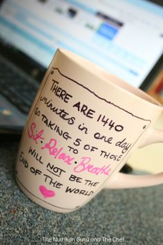 Directions for writing on your own mug and making it permanent.