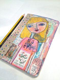Original Mixed Media Art Journal Moleskine by by ArtEyeCandy, $16.00