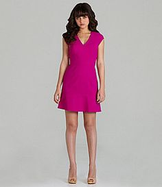 Marc New York Luxe Stretch FitandFlare Dress #Dillards