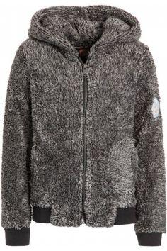 Meisjes winterjassen - Roxy WINDOW BLUES Fleece jack charcoal heather