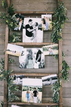 27 Best Rustic Wall Decor Ideas to Transform Worn-out right into Fabulous #RusticWallDecor #WallArt #WallDesign #AccentWallIdeas  #HomeDecorIdeas #HouseIdeas #FarmhouseDecor #RusticHomeDecor #DiyHomeDecor Love this photo display! Perfect for a rustic, wall, winter or backyard barn wedding! This is so cool :-) #rusticwedding  Louis and Alexandra's Super Glam Bohemian meets Industrial Wedding by Jaimee Morse Photography