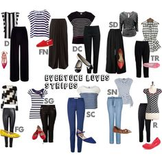 """""""Everyone Loves Stripes--Kibbe Types"""" by sarah-longwell-stevens on Polyvore"""