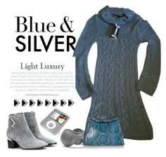 """Blue & Silver"" by conch-lady ❤ liked on Polyvore featuring Nicholas Kirkwood, Versace, 180s, Fendi, women's clothing, women, female, woman, misses and juniors"