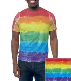 Rainbow Flag Tie Dye T-Shirt - LGBT Lesbian and Gay Pride Clothes Pride Apparel and Clothing. LGBT Gay Pride T-Shirt - Gay and Lesbian Pride Clothing & Apparel