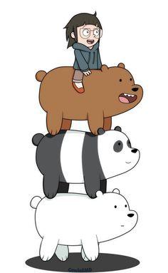 "We Bare Bears - Grizzly ""Grizz"", Panda, Ice Bear, Chloe Ice Bear We Bare Bears, 3 Bears, Cute Bears, We Bare Bears Human, We Bare Bears Wallpapers, Panda Wallpapers, Cute Cartoon Wallpapers, Bear Wallpaper, Wallpaper Iphone Cute"