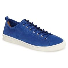 Men's Paul Smith Miyata Lace-Up Sneaker ($295) ❤ liked on Polyvore featuring men's fashion, men's shoes, men's sneakers, persian blue suede, mens shoes, mens blue sneakers, mens blue shoes, paul smith mens shoes and mens lace up shoes
