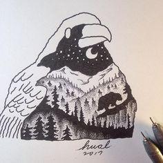 #crow #drawing #art #illustration