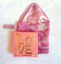 JanuarTraum, Tasche Leinwand LOVE, Taschen-Kunst von KunstKaufRauschArtig auf DaWanda.com