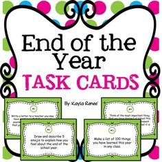 Need something to do at the end of the school year? Try these end of the year task cards!