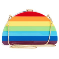Women's Milly Rainbow Half Moon Clutch ($295) ❤ liked on Polyvore featuring bags, handbags and clutches