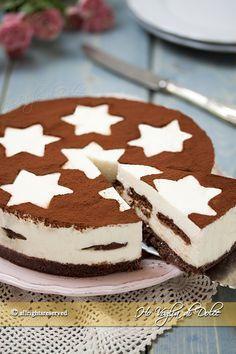 No Bake Pan Star Cheesecake Cake Cookies, Cupcake Cakes, Cheesecake Recipes, Dessert Recipes, Delicious Desserts, Yummy Food, Italian Desserts, Frozen Desserts, Love Food