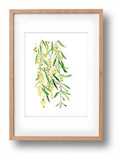 Mimosa lámina de mi acuarela original. Floreciente rama de Mimosa. Arte fresco imprimir en verde y amarillo. La primera foto es detalle, ver segunda foto para la impresión completa. Una edición limitada de 50. * Mat y marco no incluido. * Marca no aparece en la impresión. tamaño Imagen 5 X8.9 (12.7X22.5cm) Papel A4 8,3 X11.7 (21 X 29,7 cm) Colores: Verde, amarillo, mostaza, marrón. Posición: vertical - retrato 8Available en otros tamaños…