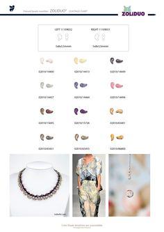 Jablonex Zoliduo beads made with trendy finishes on alabaster base
