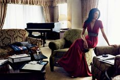 Deputy Chief of Staff to Hillary Clinton, Huma Abedin Photographed by Norman Jean Roy, Vogue, August 2007