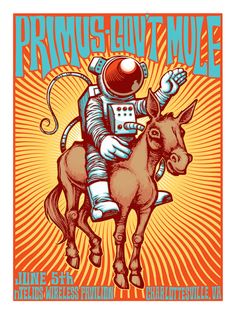 Tonight's Primus Poster from Charlottesville by Reuben Rude