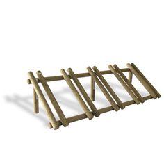 Made from bright wooden logs, this standing bike racks Diy Bike Rack, Bike Hanger, Bicycle Storage, Bicycle Rack, Standing Bike Rack, Rack Velo, Garage Velo, Bicycle Stand, Bike Stand Diy