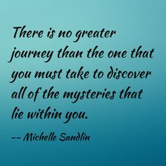 Quote about self discovery by Michelle Sandlin