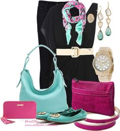 """""""Colorful Accessories"""" by michelleruth ❤ liked on Polyvore"""