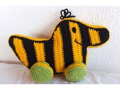 Tigerente gehäkelt, häkeln, crocheted tiger duck, Janosch, crochet pattern…