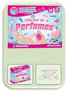 FÁBRICA DE PERFUMES descobre:  - O que são fragrâncias - A história dos perfumes - Quais as técnicas que são usadas para produzir perfumes - Como obter bombas efervescentes ou uma fabulosa espuma perfumada - Como produzir fantásticos perfumes e sais de banho.