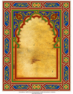 Islamic Art - Turkish Tazhib (Ornamentation through painting and miniature) - frame 93 Moroccan Art, Turkish Art, Islamic Art Pattern, Pattern Art, Family Tree Art, Islamic Paintings, Unique Drawings, Cult, Borders And Frames