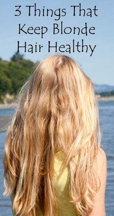 3 things blonde hair