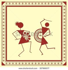 Find Indian Tribal Painting Warli Painting stock images in HD and millions of other royalty-free stock photos, illustrations and vectors in the Shutterstock collection. Madhubani Art, Madhubani Painting, Worli Painting, Fabric Painting, Animal Line Drawings, Art Drawings, Wall Drawing, Mandala Drawing, Mandala Art