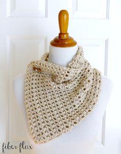 Free #Crochet Pattern...French Vanilla Button Cowl! by Fiber FluxFree #Crochet Pattern...French Vanilla Button Cowl! by Fiber Flux