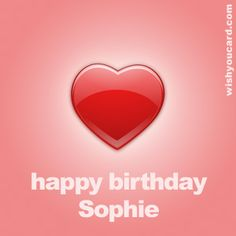 Happy Birthday, Sophie!