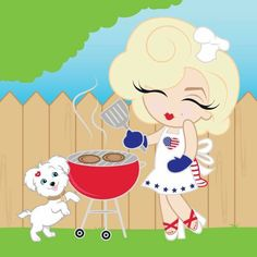 Marilyn invites you to a 4th of July BBQ