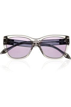 Victoria Beckham | Upswept Wayfarer D-frame acetate sunglasses | NET-A-PORTER.COM