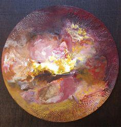 """Masaru's Morphogenesis, Encaustic, 23"""" dia. Zen Art, Serving Bowls, Abstract, Tableware, Painting, Summary, Dinnerware, Tablewares, Painting Art"""
