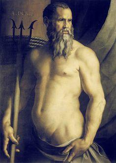 Bronzino - Portrait of Andrea Doria as Neptune (1545)
