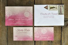 Snowing Wedding Invitation - For a winter wedding - Feel Good Wedding Invitations