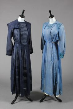 Summer day dress, with sailor collars c.1914