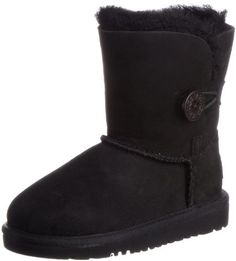 Ugg Women Winter Boots UGG Australia Children's Bailey Button Toddler Suede  Boots shearling manmade sole Shaft