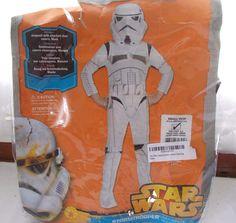 New Rubie's Disney Star Wars Storm Trooper Costume Child's Small 4-6 #Rubies…